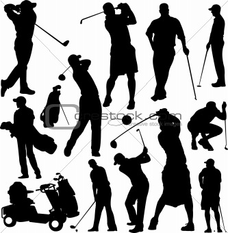 Golf players