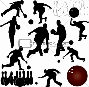 bowling people