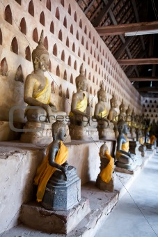 Ancient Buddha sculptures