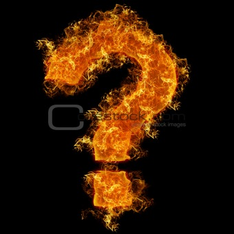 Fire sign query mark
