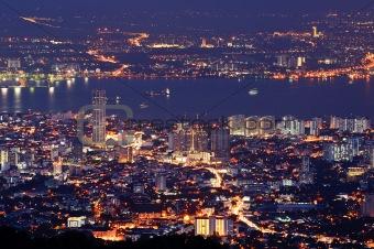 Cityscape of night