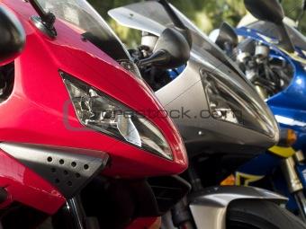 Three motorbikes