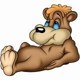 Laying bear