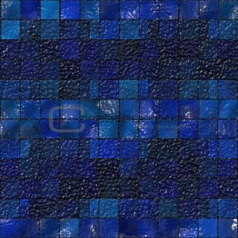Artistic blue tile