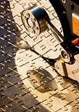 Hard disk on jigsaw