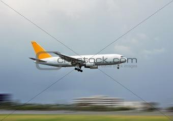 Airborne cargo jet
