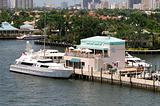 Yacht docked at Florida marina