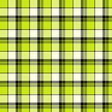 Green and white plaid material