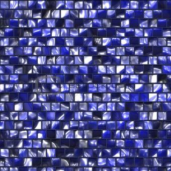 Artistic dark blue tile
