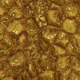 Raw gold surface