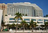 Waterfront timeshare building