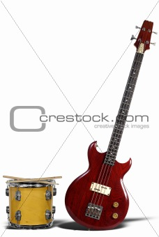 Bass Guitar and Snare Drum