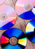Closeup of a row of CDs