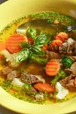 Vegetable soup with meat