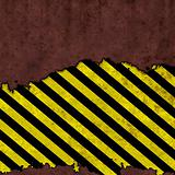 Grungy caution sign