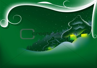 Abstract Green Xmas