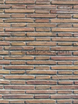 Ancient roman brick wall