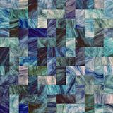 Artistic blue tile mosaic