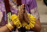 Henna hand praying
