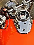 orange motorbike dashboard