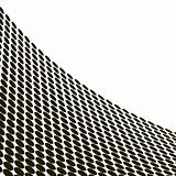 Abstract halftone wave in black and white - vector