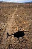 Helicopter shadow.