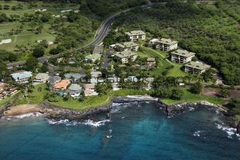 Houses on coast.