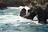 Rocky coastal alcove.