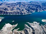 Aerial of Lake Mead.