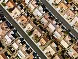 Suburban houses aerial.