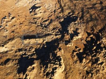 Aerial of desert.