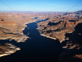 Aerial of Lake Powell.