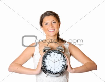 Bride with a clock