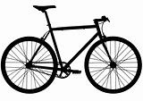 Single speed fixed gear bike silhouette