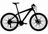 Cross country hard-tail mountain bike silhouette