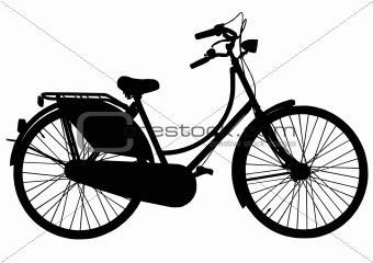 Dutch grandmas roadster bicycle silhouette