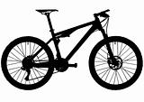Full suspension trail mountain bike silhouette