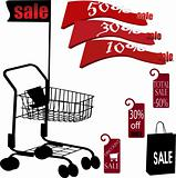shopping cart and sale