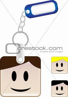 SquareHead Keychain Boy