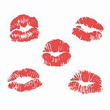 vector lipstick marks illustration