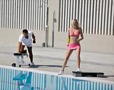 couple exercise fitness outdoor