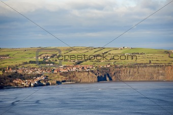 Small coastal town on the clifftops