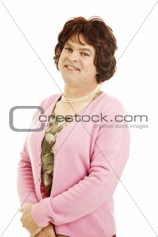 Portrait of Female Impersonator