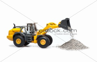toy heavy bulldozer