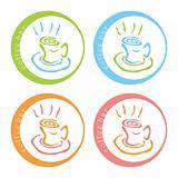 Coffee bar vector illustration colorful logo design
