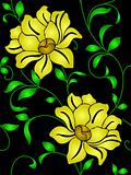 Seamless wallpaper  a seam with flower and leaves