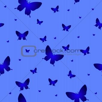 Abstract seamless wallpaper pattern butterflies