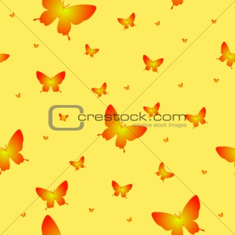 Abstract seamless wallpaper pattern butterflies
