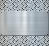 shiny diamond plate metal backgorund