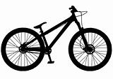 Dirt jump street mountain bike silhouette
